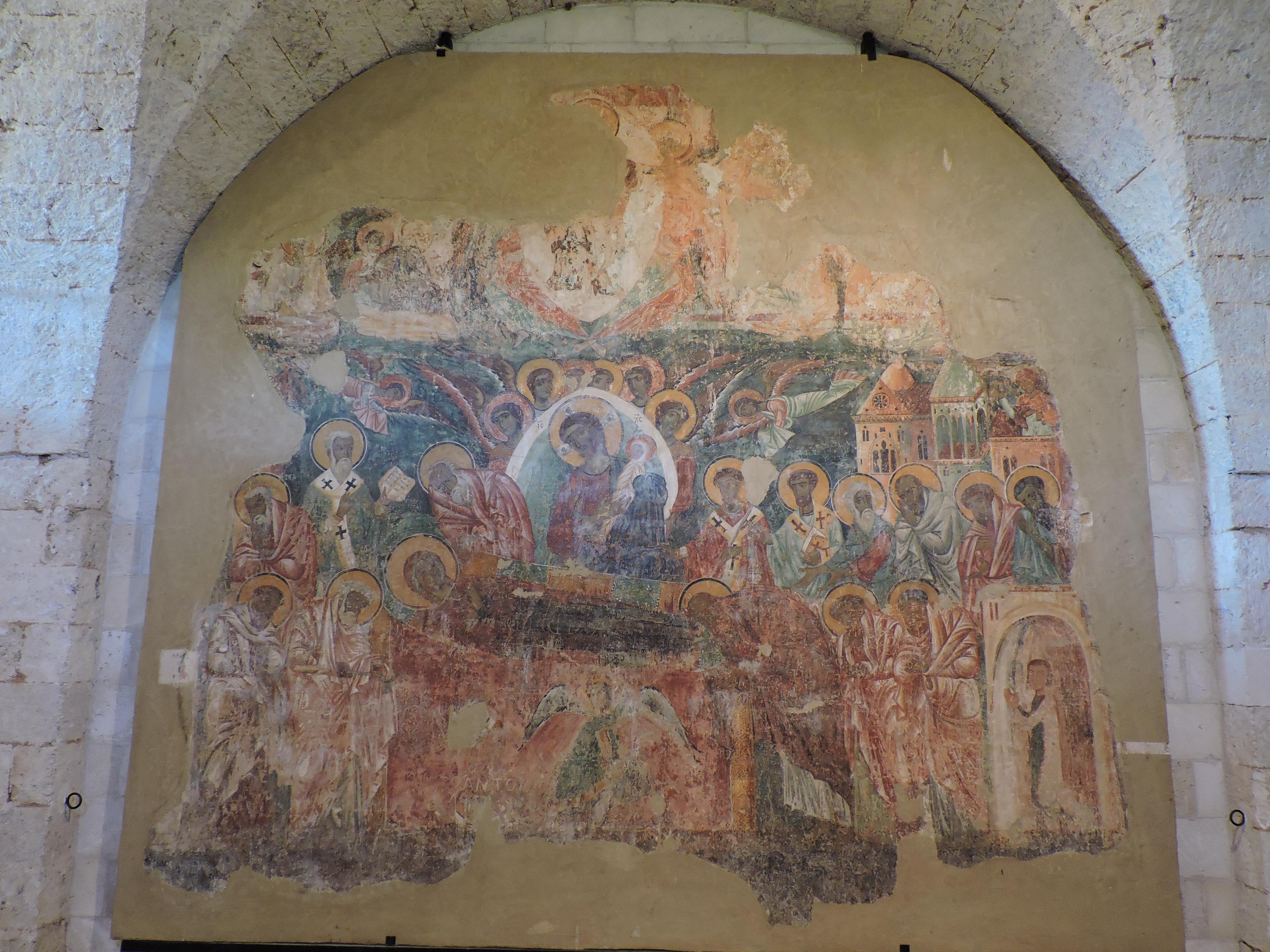 """Affresco strappato rappresentante """"La morte della Vergine"""", foto (c)Sara Venturiero"""