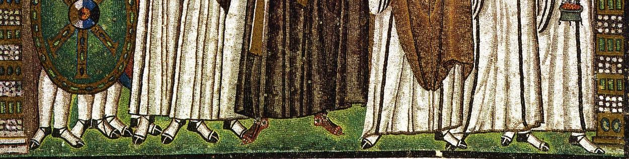 Dettaglio piedi di Giustiniano_San Vitale_Ravenna
