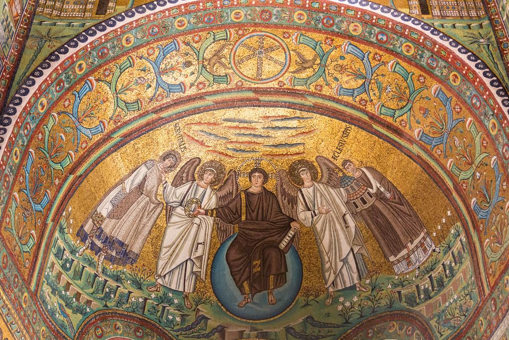 Mosaico del catino absidale nella Basilica di San Vitale a Ravenna